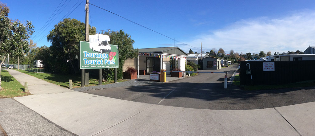 Tauranga Tourist Park entrance